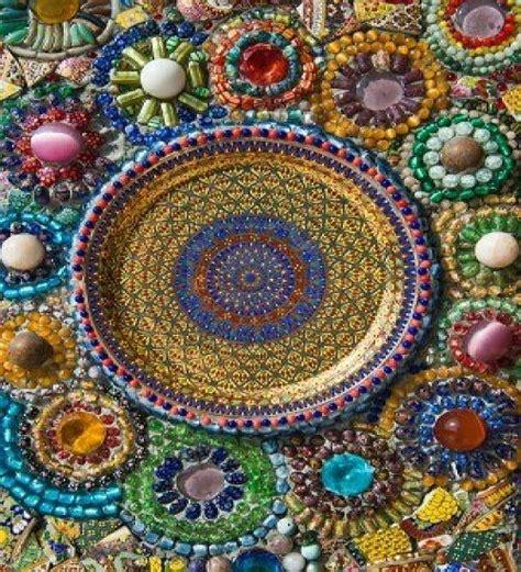 images  mosaic idees vir tuin tafel  pinterest mandalas stained glass
