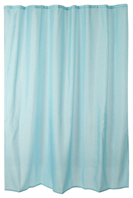light blue polka dot printed shower curtain traditional