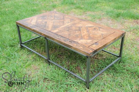 shanty 2 chic coffee table diy metal and wood coffee table shanty 2 chic