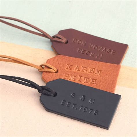 bag tag personalised handsted leather luggage tag by posh totty designs creates notonthehighstreet