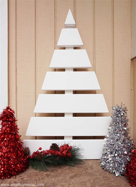 wooden christmas tree a fun diy project small home soul
