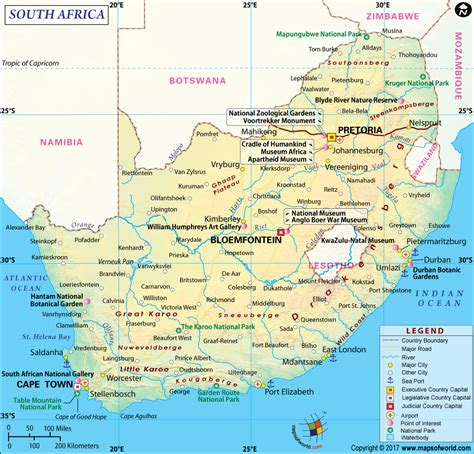south africa map map  south africa