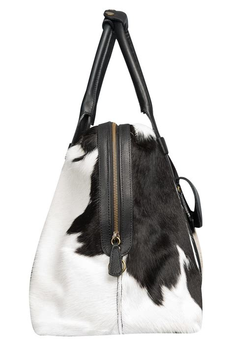 cowhide bags humawaca cowhide travel bag from argentina shoptiques