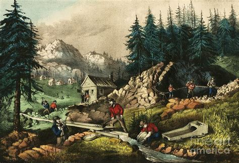 California Gold Mining Painting By Pg Reproductions