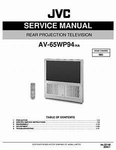 Jvc Sb3 Chassis Av65wp94 Projection Tv Sm Only Service
