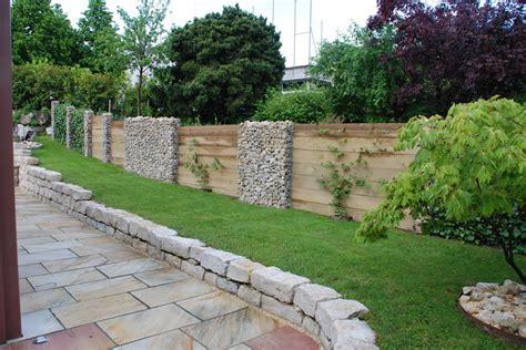 Gartengestaltung Hanglage Gabionen Wohndesign