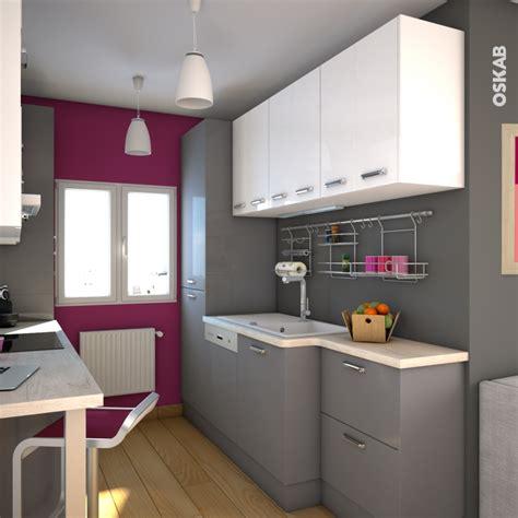 cuisine oskab meuble petit déjeuner 1 rideau coulissant alu l60xh121xp37