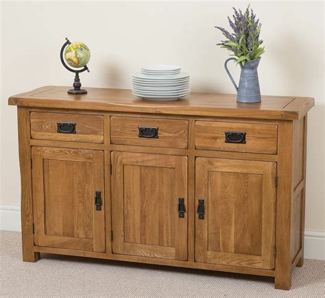 Bedroom Sideboard Furniture by Cotswold Solid Oak Large Sideboard Cabinet 3 Door 3 Drawer