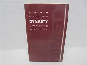 90 Dodge Dynasty Owners Manual Guide Book 1990
