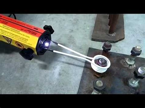 Amazing Induction heat tool rounded nut rust rusty bolt