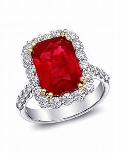 34 royal ruby engagement rings martha stewart weddings With ruby and diamond wedding ring