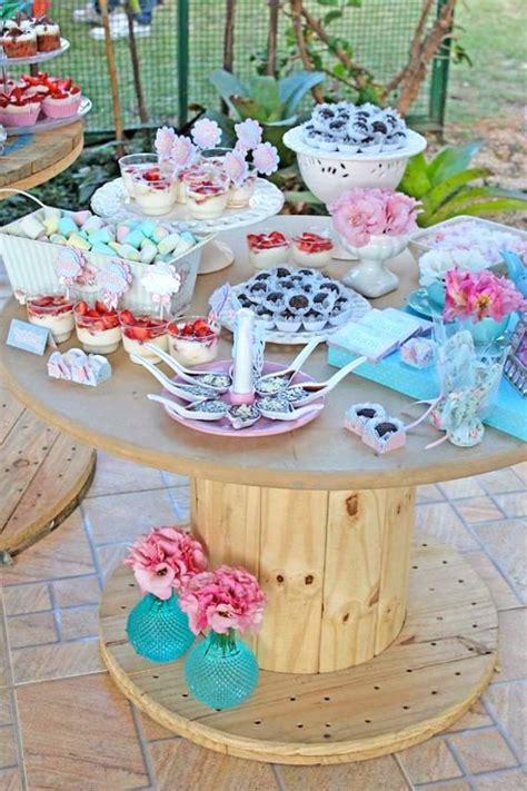 pastel garden themed birthday via kara s ideas
