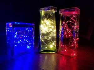 Fairy, Lights, In, Vases