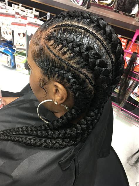 feed  braids crownbraidprincess bouffant hair medium