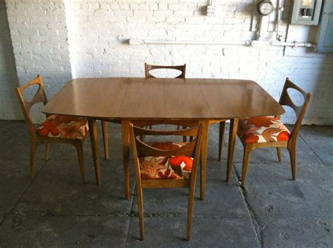 mcm drexel profile dining table and chairs