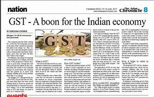 GST – A boon for the Indian economy: My article in The ...