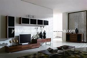 Melamine tv unit living room furniture china tv unit tv for Modern set of living room furniture wall tv unit