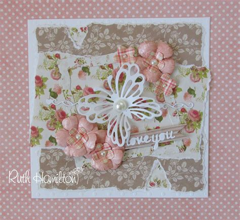 shabby chic cards a passion for cards making a shabby chic card with trimcraft s first edition love story papers