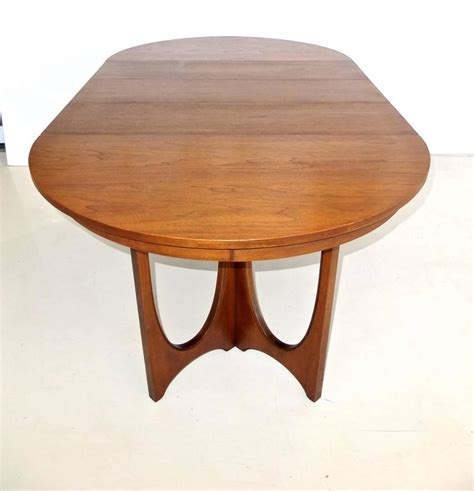 broyhill glass table ls broyhill brasilia walnut dining table and chairs at 1stdibs