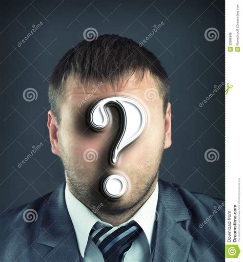 businessman  question mark stock image image