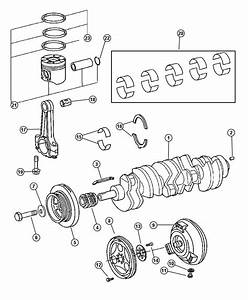 2006 Dodge Sprinter 2500 Piston  Crankshaft  Diesel