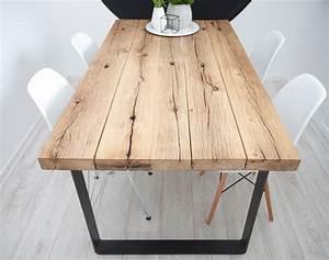 Pied De Table Bois : table bois massif pied metal deco maison en 2019 ~ Melissatoandfro.com Idées de Décoration