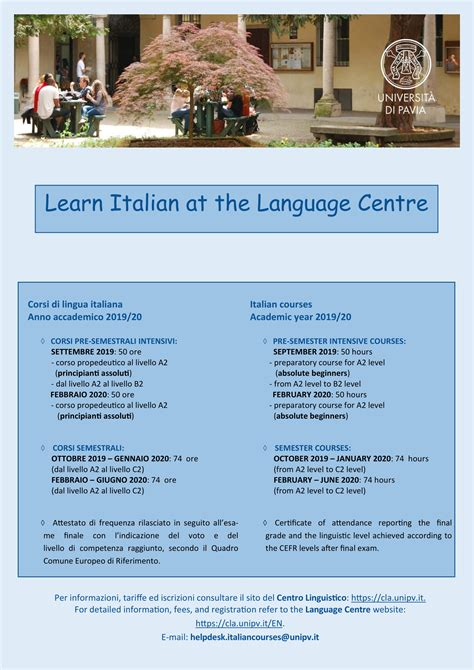 centro linguistico pavia learn italian at the language centre universit 224 di