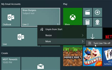 How To Pin Your Email Accounts To Windows 10 Start Menu