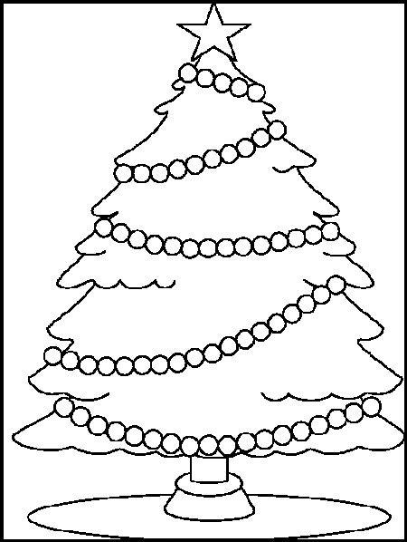 imagenes de arboles de navidad para dibujar y colorear