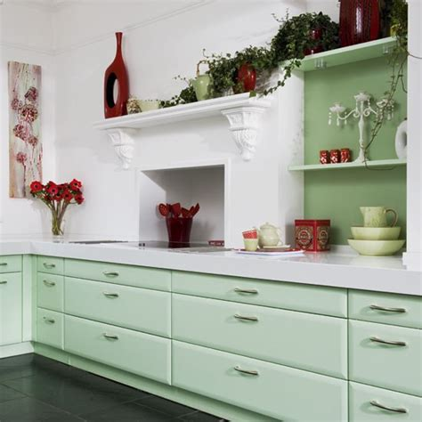 green kitchen cabinets uk mint green kitchen kitchens design ideas image