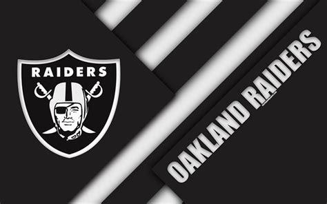 Download wallpapers Oakland Raiders, 4k, logo, NFL, black ...
