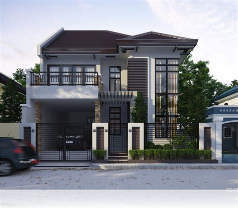 modern  storey  terrace house design ideas simple home pertaining  awesome  cozy
