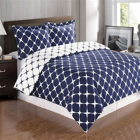 Bloomingdale Navy And White Duvet Cover Set