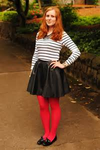 Outfits with Red Tights