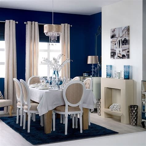 elegant blue  white dining room dining room