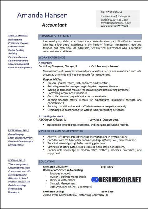 word resume template 2018 accountant resume exles 2018 resume 2018