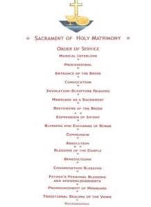 Christian Wedding Ceremony Order of Service