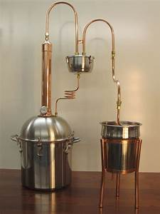 Alcohol Ethanol Moonshine Copper Tower Still 4 Gallon
