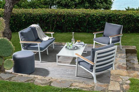 canapé de jardin castorama timber de talenti salon de jardin aluminium et teck