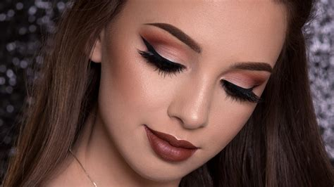 Warm Brown Makeup Tutorial Fall Look