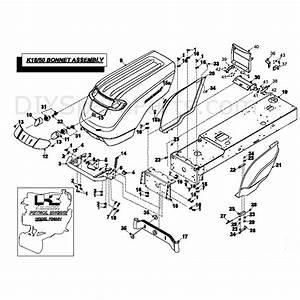 Countax K Series K1850 Lawn Tractor 2007  2007  Parts Diagram  Bonnet Assembly