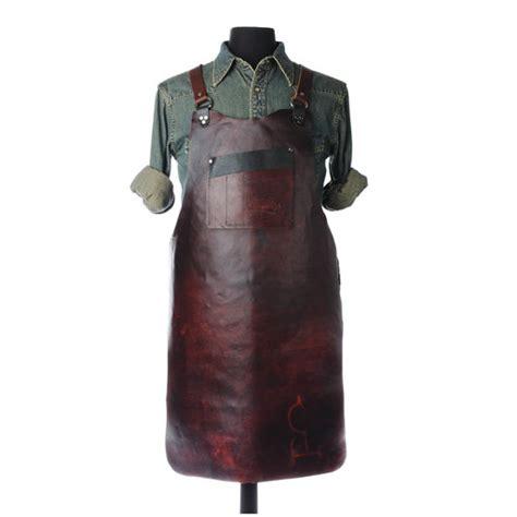 leather shop apron    walnut