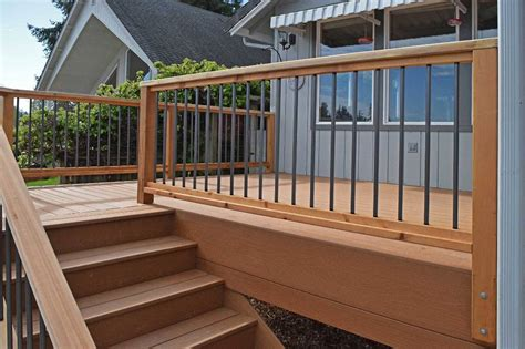 Kitchen Ideas And Designs - composite deck stairs pictures railing stairs and kitchen design how to make composite deck