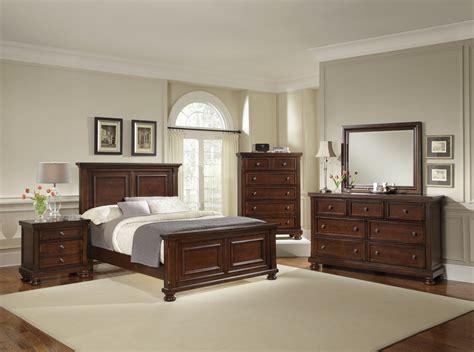 vaughan basset reflections mansion bedroom set  dark cherry