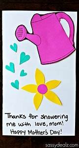 Watering Can Mother's Day Card Kids can Make - Sassy Dealz ...