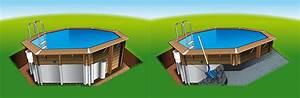 Piscine A Enterrer : piscine bois ocea 8 60 x 4 70 x h1 30m ~ Zukunftsfamilie.com Idées de Décoration