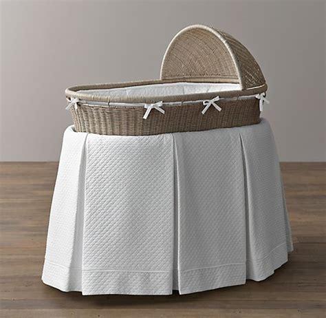 vintage washed matelass 233 bassinet bedding white