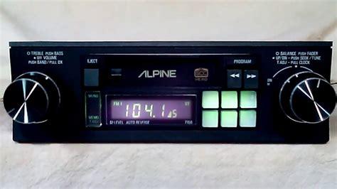 cassette car vintage alpine 7156 am fm cassette car stereo