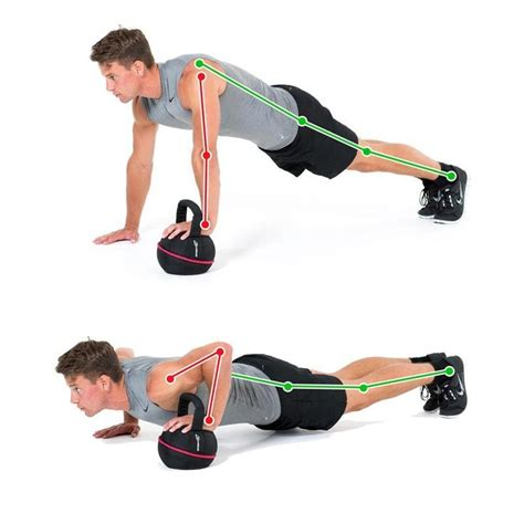 kettlebell push ups workout hand arm exercise beginner workouts chest exercises kettlebells routines core