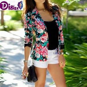 Blazer Femme Fleuri : veste fleuri femme achat vente veste fleuri femme pas cher cdiscount ~ Melissatoandfro.com Idées de Décoration